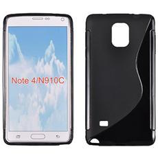 Cover S-Line Nero in Silicone per Samsung Galaxy Note 4