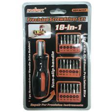 Set 18 In 1 Cacciaviti Punte Assortite Tools Di Precisione Taglio Stella Intaglio Scredriver Torx Manico Antiscivolo