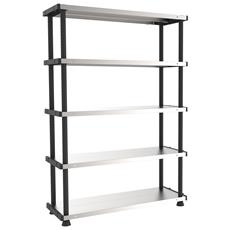 Scaffale Mp shelf 120 rc metallo plastica L119 x P45 x H185