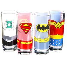 Justice League Of America - Justice League (Set 4 Bicchieri Piccoli)