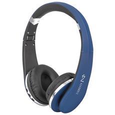 Cuffie Bluetooth Con Microfono Dj 1200 Bt Blu