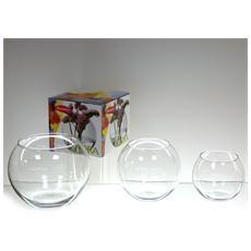 Vaso Vetro Globe Trasparente Cm12,5 Decorazioni
