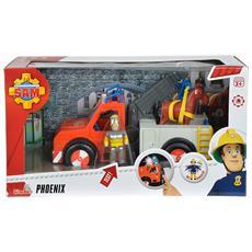 Veicolo di salvataggio Phoenix di Sam il pompiere, con personaggio e cavallo 109258280