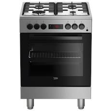 Cucina Elettrica FSE62110DXF 4 Fuochi a Gas Forno Elettrico Multifunzione Classe A Dimensioni 60 x 60 cm Colore Inox