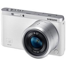 NX Mini Bianco Kit 9-27 mm Sensore CMOS BSI 20.5Mpx Display 3'' Filmati Full HD Stabilizzato Wi-Fi NFC