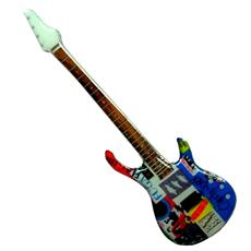 Stainless Guitar Shaped Fridge Magnet - Red Hot Chili Peppers Flea