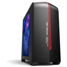 Case 6601 Red Demon Mini Tower Micro ATX / ITX / Mini ITX 1 Porta USB 3.0 Colore Nero / Rosso