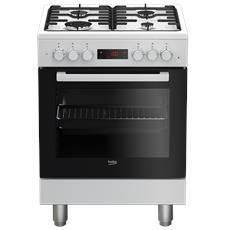 Cucina Elettrica FSE62110DWF 4 Fuochi Gas Forno Elettrico Multifunzione Classe A Dimensioni 60 x 60 cm Colore Bianco