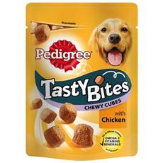 Snack per Cani Tasty Bites Chewy Cubes Confezione 130g