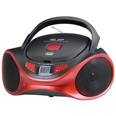 Stereo Portatile Boombox Cd Mp3 Usb Aux-in Trevi Cmp 531 Usb Rosso