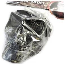 maschera travestimento 'tête de mort' grigio - [ m9102]