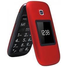 """TM260 Cosi Senior Phone Display 2.6"""" Micro SD Bluetooth con Tasti Grandi + SOS Fotocamera Colore Rosso"""