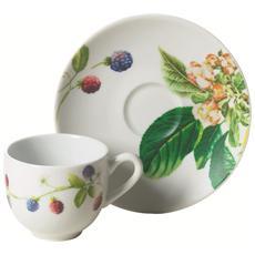 Servizio 6 tazzine da caffè con piattino