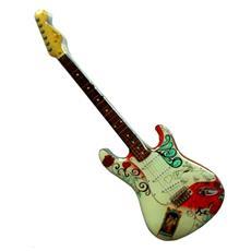 Stainless Guitar Shaped Fridge Magnet - Jimi Hendrix Monterey Pop