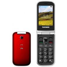 """TM200 Senior Phone Display 2.6"""" Micro SD Bluetooth con Tasti Grandi + SOS Fotocamera Colore Rosso"""