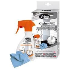 Kit Igiene Cucina Detergente Per Superfici In Acciaio Inox + Panno In Microfibra Wpro
