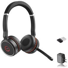 JABRA - Cuffie Wireless Evolve 75 MS Stereo Bluetooth Colore Nero  RICONDIZIONATO 764574fa7d86