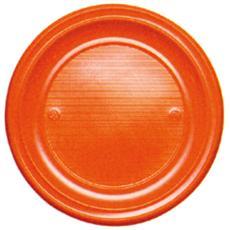 conf. 30 Piatti piani arancione01566