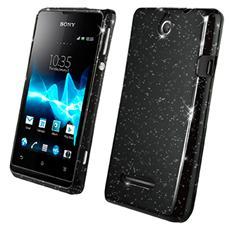 Minigel Case Black Glitter Xperia E