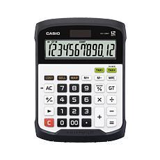 Calcolatrice da Tavolo 12 Cifre Solare e Batteria Bianco e Nera