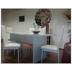 Tavolo laccato - in legno laccato bianco
