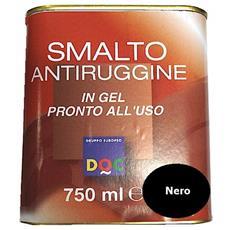 Smalto Sintetico Antiruggine E Di Finitura In Gel 0,75 Lt Nero Lucido - 33003