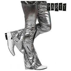 Pantalone Per Adulti Th3 Party Disco Brillante Argento Xl