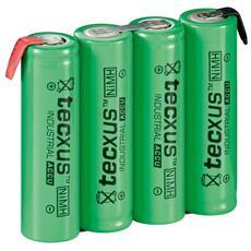 IBT-HR6-4AAF - Batterie ricaricabili NiMH 4xAA HR6 2100 mAh 4.8V a saldare