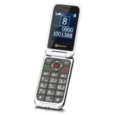 "PowerTel M7000 Senior Phone Display 2.4"" Micro SD con Tasti Grandi + SOS Colore Argento - Europa"