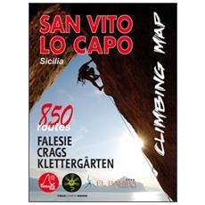 San Vito Lo Capo climbing map. 850 vie. Ediz. italiana, inglese e tedesca