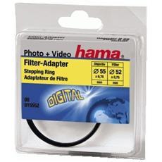 Filter Adapter Ring, Lens Ø: 55,0 mm, Filter Ø: 52,0 mm, Nero