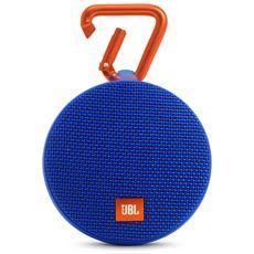 Speaker Audio Portatile Clip 2 Bluetooth Impermeabile colore Blu