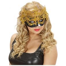 Maschera Nera Glitter Oro