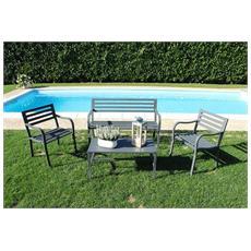Tavolino In Ferro Nero Per Esterno Giardino, Portico, Ristorante, Gelateria Bar Hotel Albergo