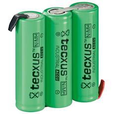 IBT-HR6-3AAF - Batterie ricaricabili NiMH 3xAA HR6 2100 mAh 3.6V a saldare