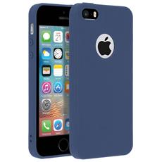 Cover Iphone 5 / 5s / Se Soft Touch Silicone Gel Morbido - Blu