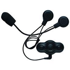 Cuffie / Auricolari per moto con Bluetooth e Microfono incorporato Trasmissione 10m - Nero