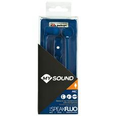 Auricolari Speak Fluo Blu Micro