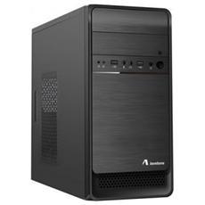 Case PC Mini Tower Micro-ATX / Mini-ITX 2 Porte USB 2.0 Colore Nero (Alimentatore Incluso)