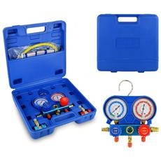 G02670 Set Manometro A 5 Vie Per Diagnosi Gas Condizionatori Di Aria E Auto