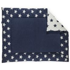 Trapunta Per Bimbi Da Box 80x100 Cm Little Star Blu Marino