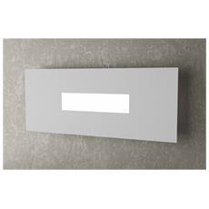 Lampada Da Parete Moderna Led 1x2g11 Metallo Grigio L 40 X 16 Cm Rettangolare