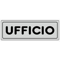 Cartello adesivo UFFICIO 15905400ADB0150X0050 Pubblicentro, plastica, 15x5 cm (pz. 1)