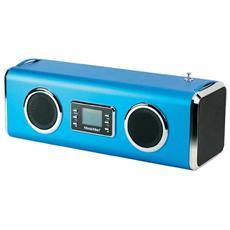 Speaker Audio Portatile MusicMan Giant Potenza Totale 14W Bluetooth Colore Azzurro