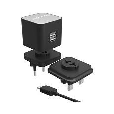 Kit da 3 Presa di corrente con uscita max. 2400 mA 2 x USB