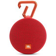Speaker Audio Portatile Clip 2 Bluetooth Impermeabile colore Rosso