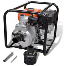 Pompa D'acqua Con Motore A Benzina 80 Mm Collegamento 6,5 Hp