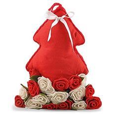 Cuscino Albero Rosso Rose Rossebia