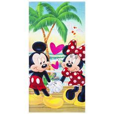 Mickey Mouse Telo Da Mare Bambini (70x140cm) (verde)