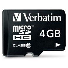 MicroSD HC-4GB Class 10+ Adattatore